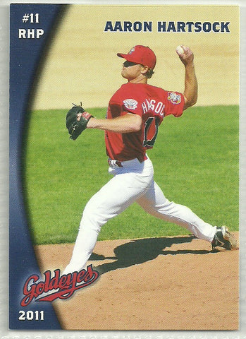 Aaron Hartsock 2011 Winnipeg Goldeyes Team Issued Card
