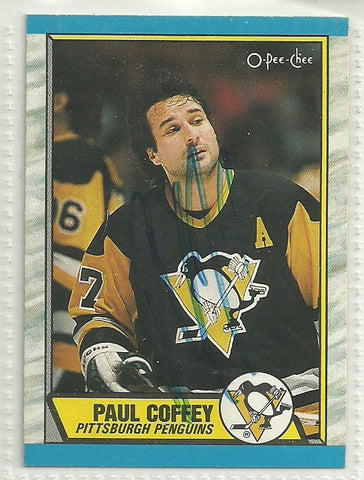 Paul Coffey Autograph 1989-90 O-Pee-Chee Card