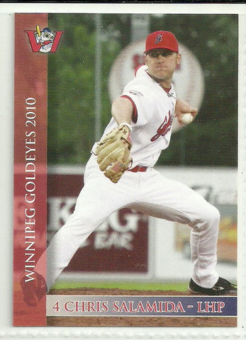 Chris Salamida 2010 Winnipeg Goldeyes Team Issued Card