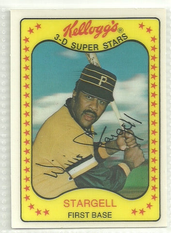 Willie Stargell 1981 Kellogg's 3-D Super Stars #11