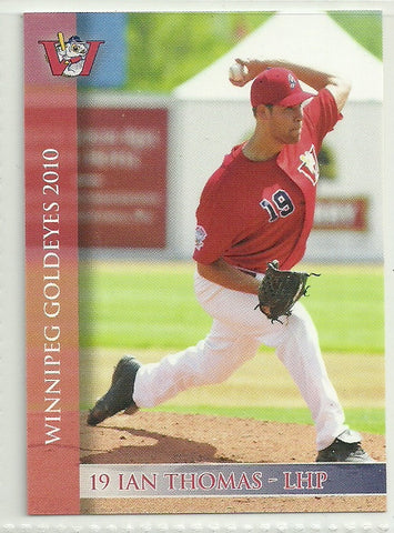 Ian Thomas 2010 Winnipeg Goldeyes Team Issued Card