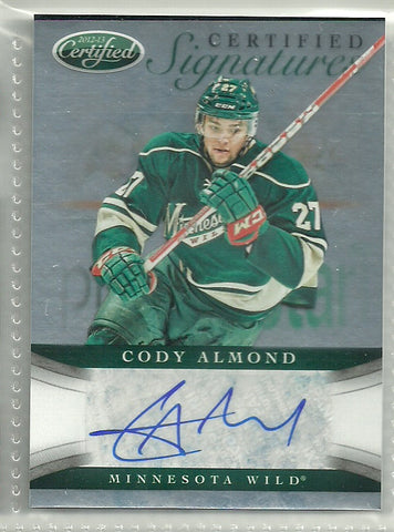 Cody Almond Autograph 2012-13 Certified Signatures Card