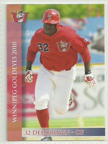 Dee Brown 2010 Winnipeg Goldeyes Team Issued Card