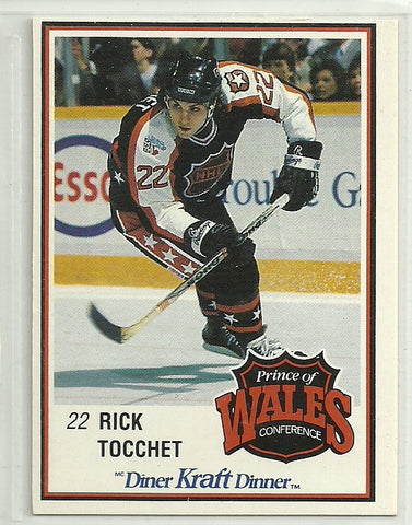 Rick Tocchet 1989-90 Kraft Dinner Card #57