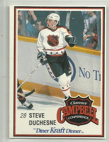 Steve Duchesne 1989-90 Kraft Dinner Card #58