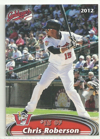 Chris Roberson 2012 Winnipeg Goldeyes Team Issued Card