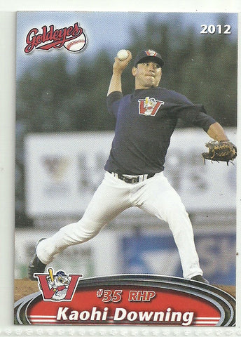 Kaohi Downing 2012 Winnipeg Goldeyes Team Issued Card