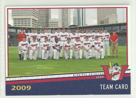 2009 Winnipeg Goldeyes Team Issued Card