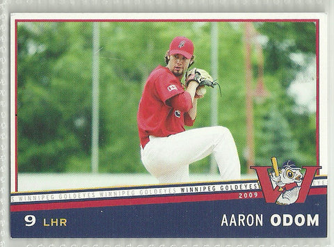 Aaron Odom 2009 Winnipeg Goldeyes Team Issued Card