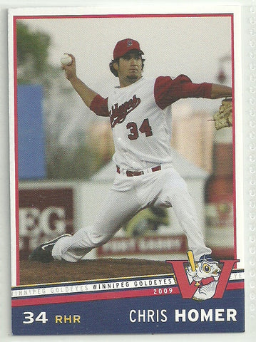 Chris Homer 2009 Winnipeg Goldeyes Team Issued Card