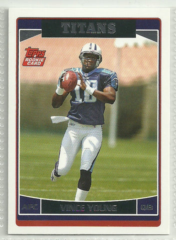 Vince Young 2006 Topps Rookie Card #353
