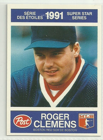 Roger Clemens 1991 Post Canadian Super Star Series #18