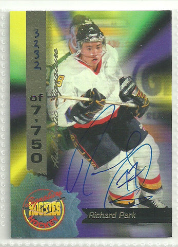 Richard Park 1995 Signature Rookies Autograph Card #12