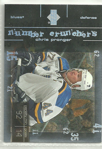 Chris Pronger 2000-01 Upper Deck Number Crunchers #NC9