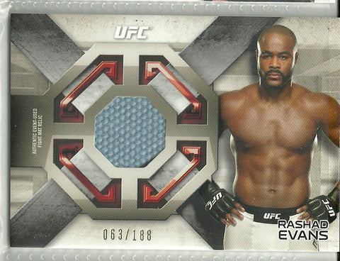Rashad Evans 2016 Topps UFC Knockout - Fight Mat Relics #FMR-RE /188