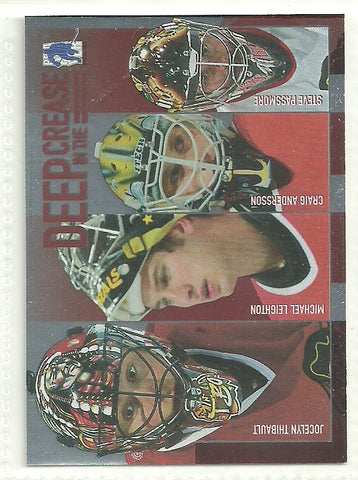 Jocelyn Thibault, Michael Leighton, Craig Anderson, Steve Passmore 2003-04 Be A Player Memorabilia - Deep in the Crease #DC-2