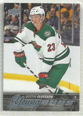 Gustav Olofsson 2015-16 Upper Deck Young Guns Rookie Card #486
