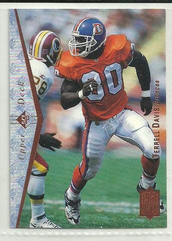 Terrell Davis 1995 SP #130 Rookie Card