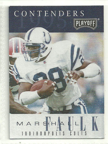 Marshall Faulk 1995 Playoff Contenders #28