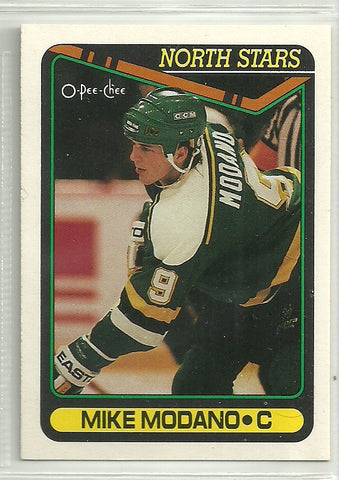 Mike Modano 1990-91 O-Pee-Chee #348 Rookie Card