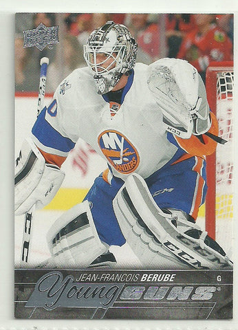 Jean-Francois Berube 2015-16 Upper Deck Young Guns #242 Rookie Card