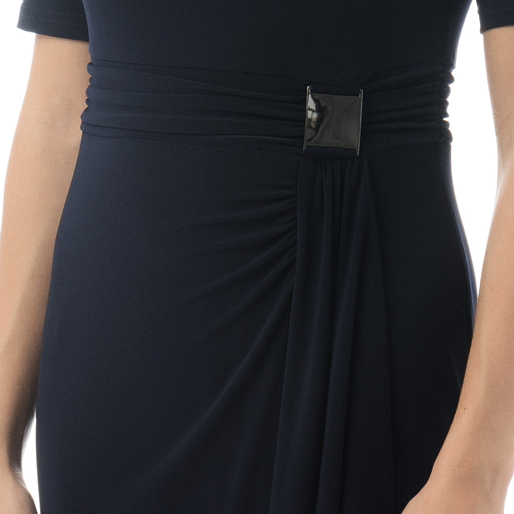 Joseph Ribkoff Midnight Blue Wrap Dress