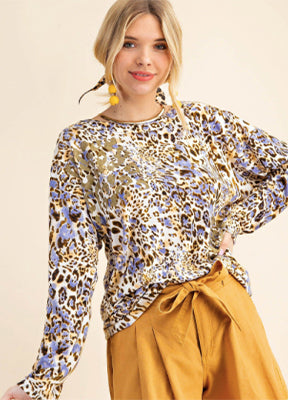 Leopard Gold Graphic Top