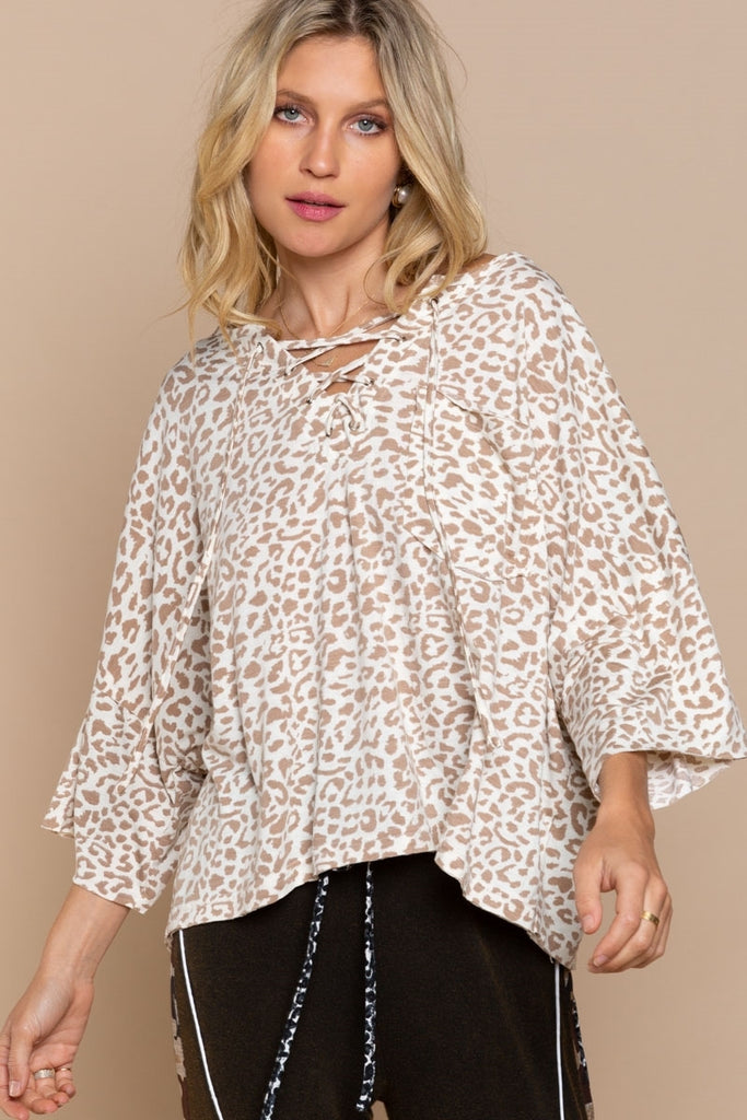 Leopard Two Tone Top