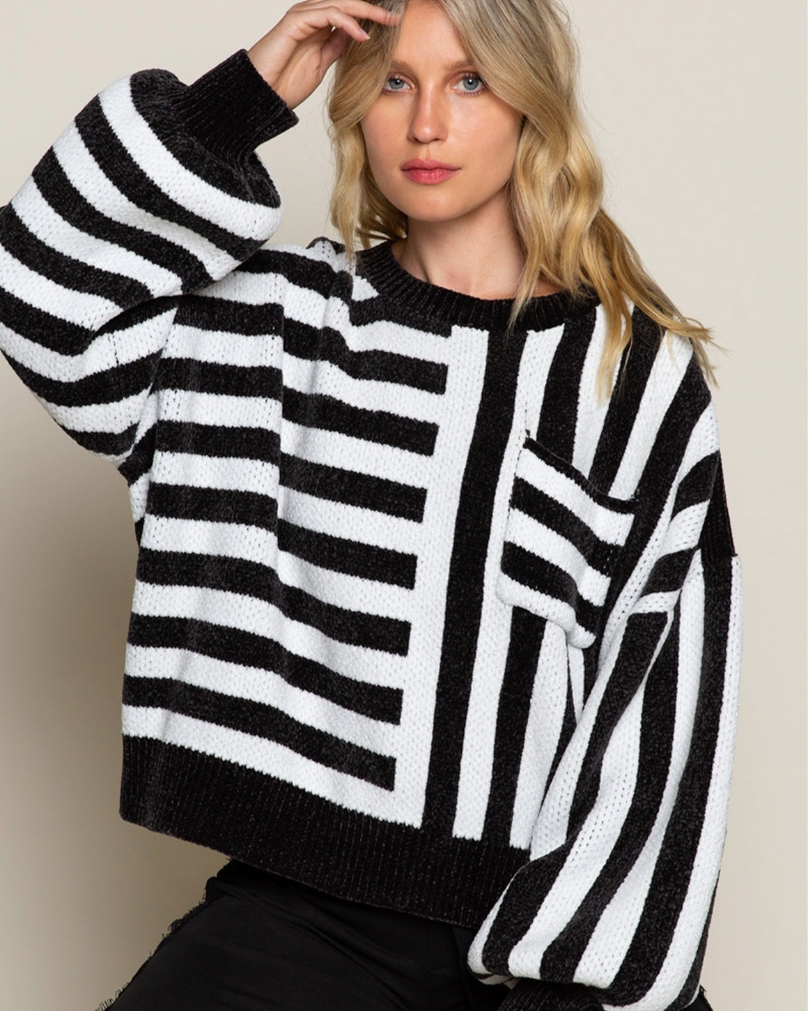 Moss Stripe Sweater