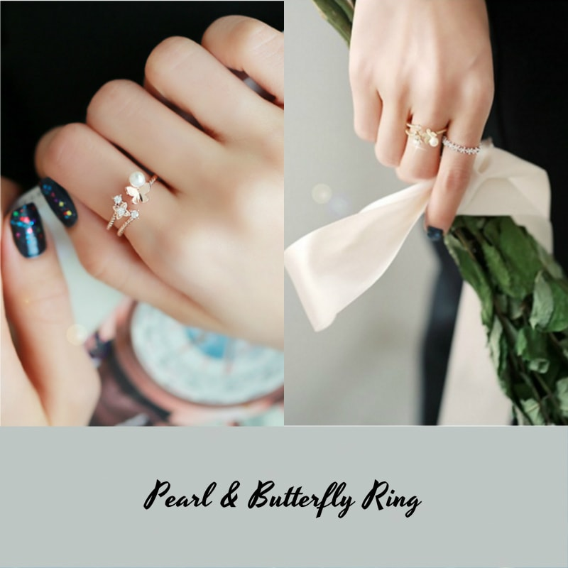 Korea Stylish Index Finger Crystal Ring