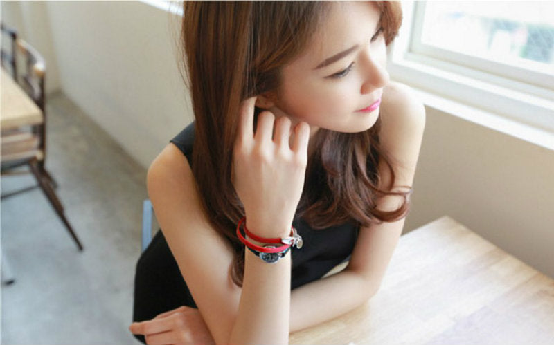 Trendy Love Coin Leather Bracelet