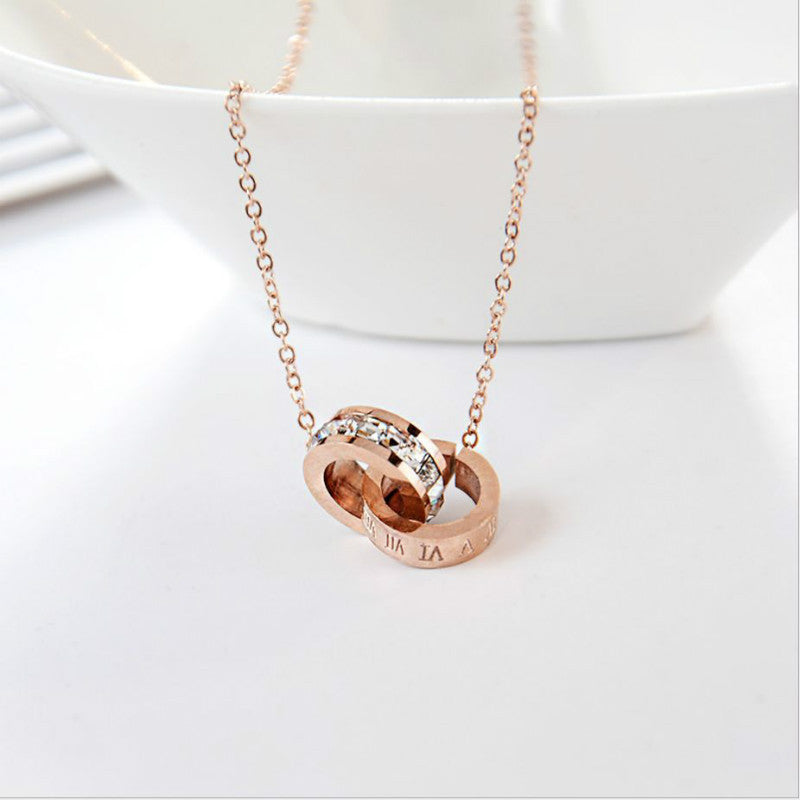 at com suppliers manufacturers steel necklace double stainless showroom etsy alibaba circle infinity custom jewelry ring and