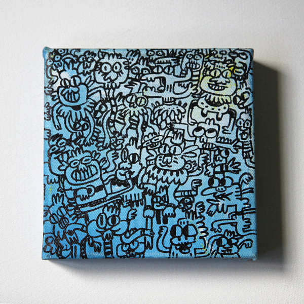 Millionz-O-Doodz Square Blue Canvas