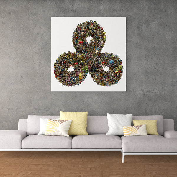 Triple Infinity Stretched Canvas