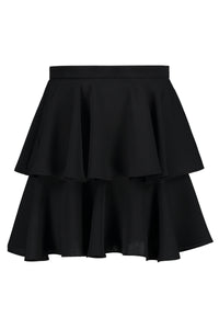 Ethan Double Ruffle Mini Skirt