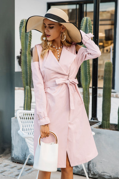 Remy Pink Trench Coat