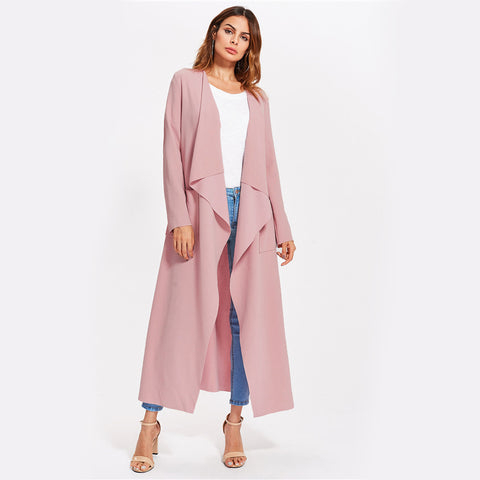 Cassie Pink Trench Coat