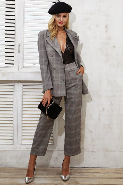 Taylor Plaid Blazer