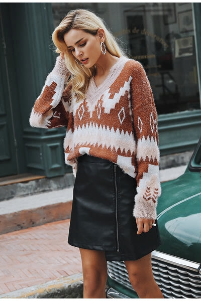 Andrea Tribal Sweater