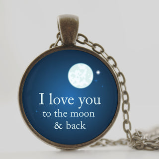 Blue Pendant I love you
