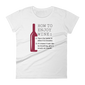 How to Enjoy Wine T-shirt