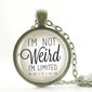 I'm Not Weird Pendant Necklace
