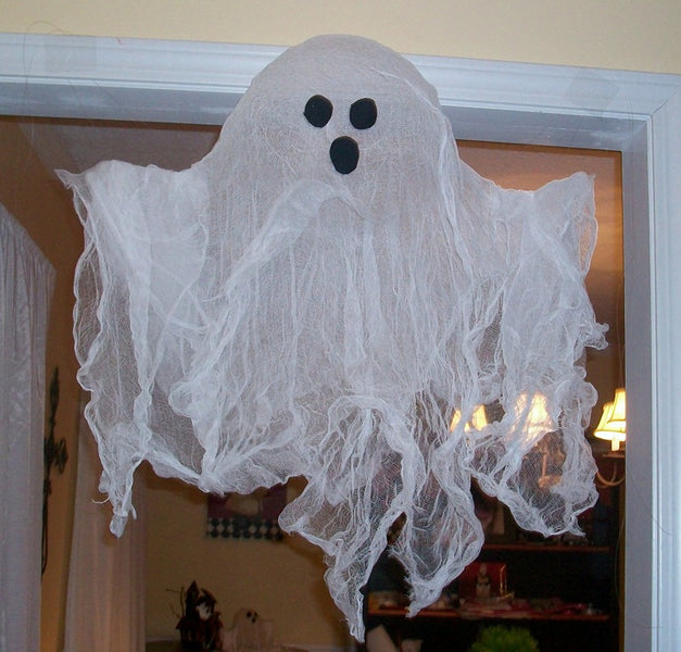 DIY Cheesecloth Ghost Tutorial for kids