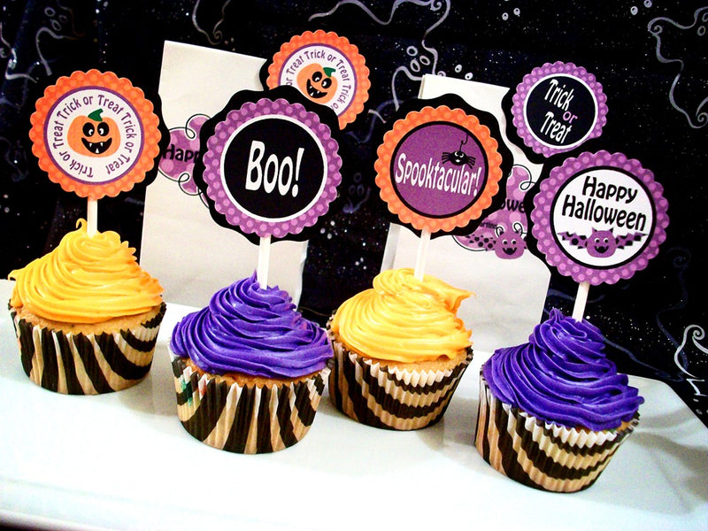 Halloween Cupcake and Candy Bar Printables FREE!!