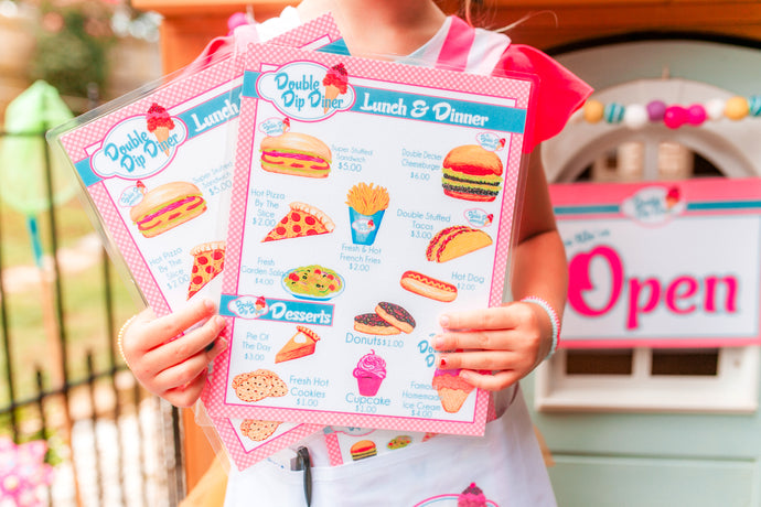 Pretend Play Diner/Restaurant Set-Basic PINK/BLUE