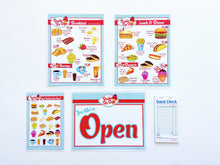 Retro Diner Pretend Restaurant Play Set- RED/BLUE