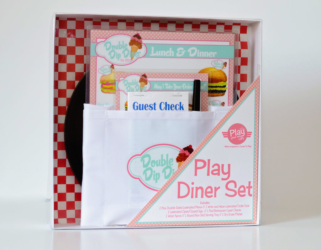 Deluxe Pretend Play Diner/Restaurant Set PINK/BLUE