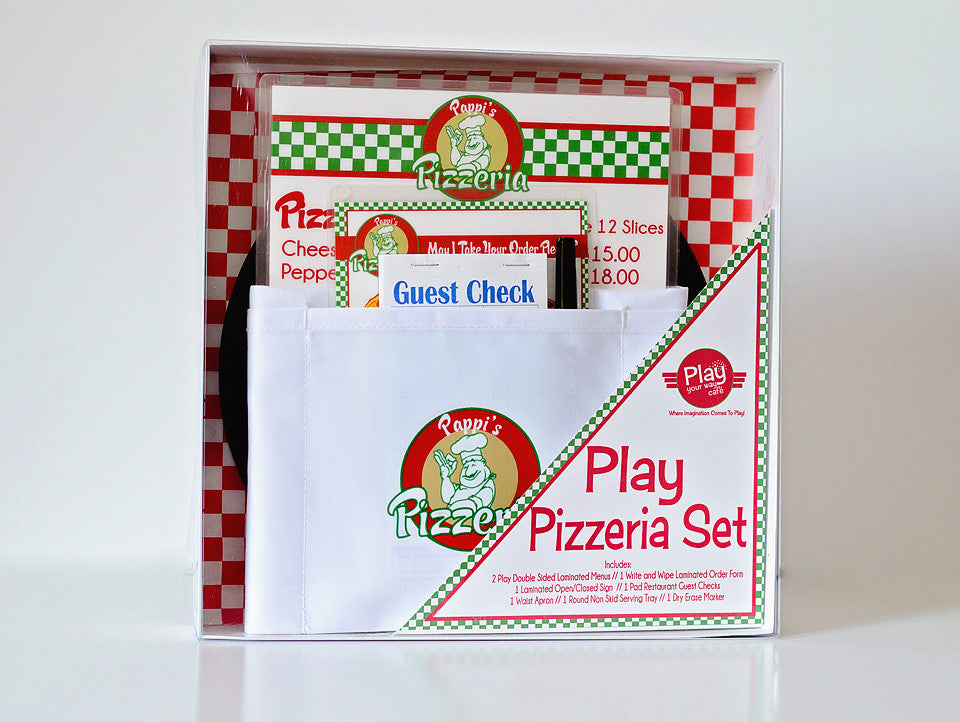 Pretend Play Pizza Shop Deluxe Gift Set