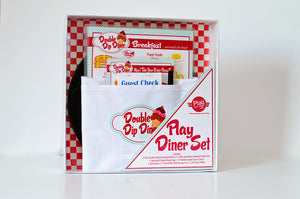 The Deluxe Pretend Play Restaurant Retro Diner Set-RED/BLUE