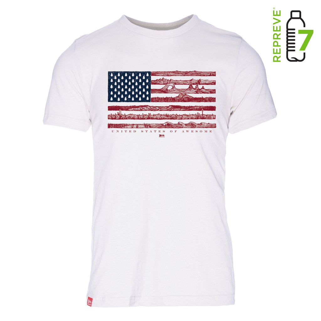US of Awesome REPREVE 50/50 T-Shirt - The Meridian Line